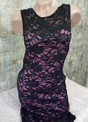 Очень красивое вечернее платье с кружевом в паедках