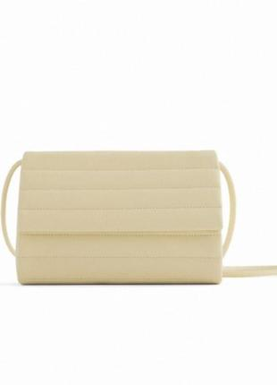 Zara базовая стеганая сумка-коробочка
