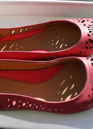 Туфли балетки clarks plus кожа 38,5-39 размер