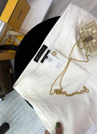 Шикарные белые хлопковые брендовые шорты