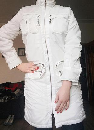 Зимнее белое пальто oxygen