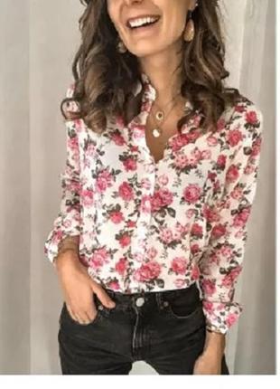 Блуза рубашка италия р. 54