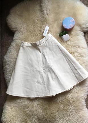 Новая утепленная юбка эко кожа, river island  р-р 12