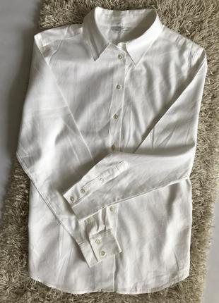 Белая рубашка свободного кроя marks&spencer