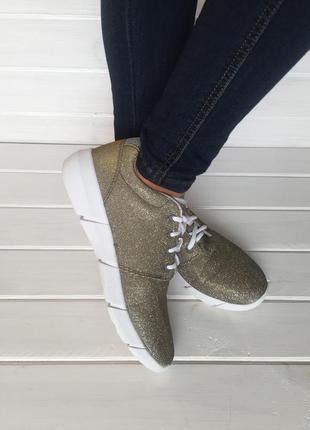 (41 р. / 26,5 см) стильные кроссовки бренда vevice / кроссовки с люрексом № 303