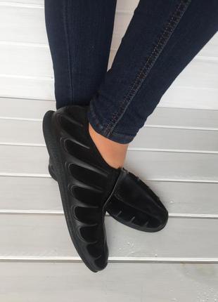 (39 р. / 25,5 см) спортивные мокасины / спортивные туфли бренда ecco из натур. замши № 302