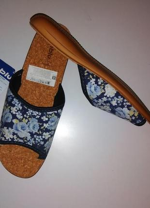Легкие женские домашние тапочки (корковая стелька) inblu