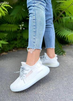 Кроссовки текстильные женские демисезонные белые