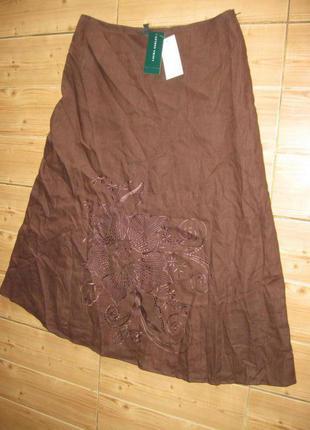 "Новая юбка ""laura ashley"" р.52 лен 100%"