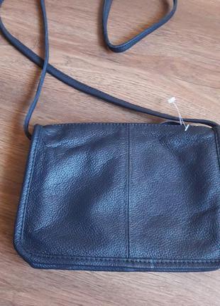 Новая кожаная сумочка hotter оригинал!! цвет темно-темно серый!