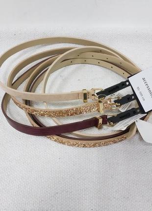 Комплект 3шт женский ремень немецкого бренда accessoires by c&a европа оригинал