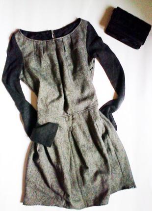 Супер теплое платье с подкладкой ,хит етой зимы!