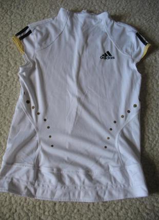 Футболка белая на молнии сзади adidas