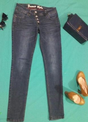Супер классные джинсы, скини синего цвета