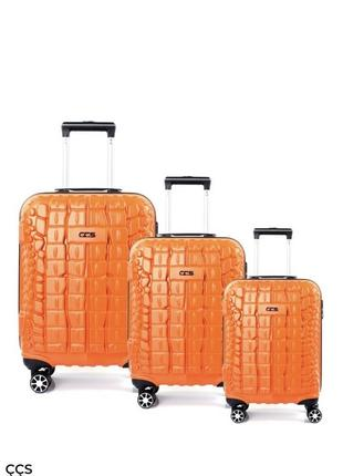 Комплект фирменных чемоданов ccs(турция)