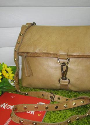 Стильная брендовая кожаная сумка английского бренда topshop  нат. кожа