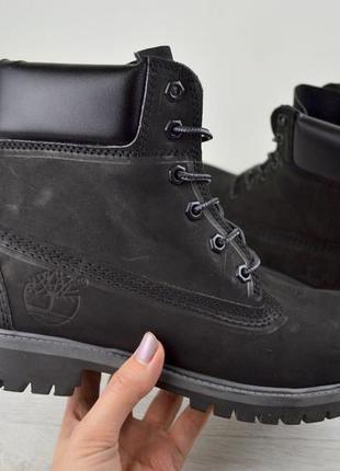 Зимние ботинки timberland черного цвета 36,37,38,39,40 рр