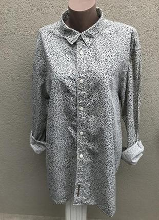 Брендовая рубашка,укисекс,большого размера,хлопок 100%