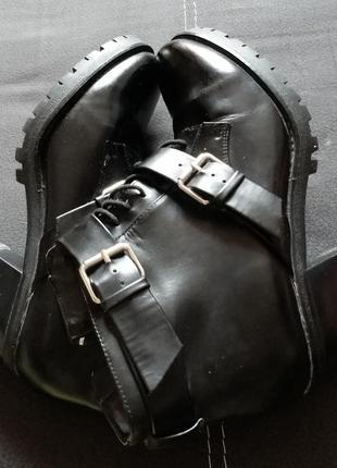 Ботинки кожа pull&bear