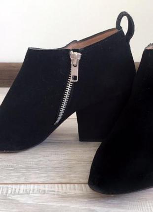 Замшевые ботиночки h&m . ботильоны