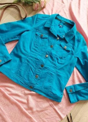 Класный джинсовый пиджачок р 36-40