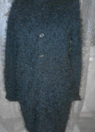 Кардиган, пальто из травки, оверсайз