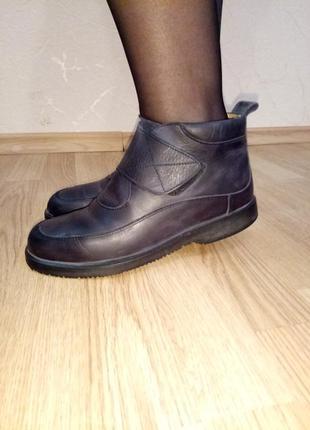 Ортопедические 100% кожаные ботинки! стелька 25 см
