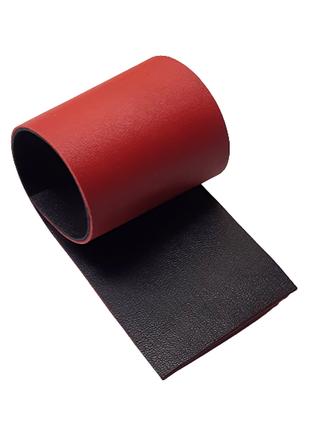 Красная черная натуральная кожа в 2 слоя для творчества, сделайте сами креативные украшения