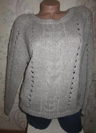 Нарядный свитер с люрексом 46 м
