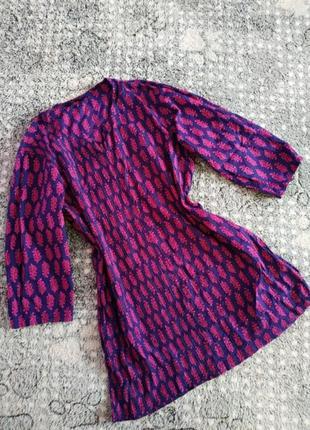 Котонова блузка в гарний принт