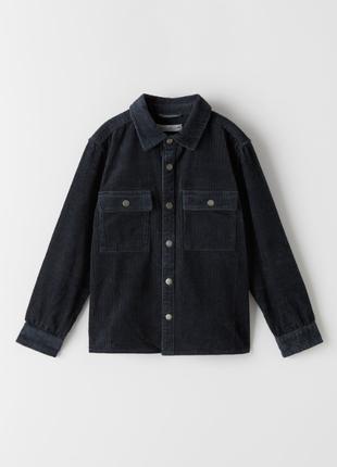 Стильная вельветовая куртка рубашка пиджак на мальчика zara оригинал