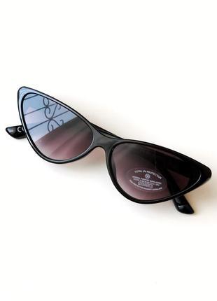 Новые черные женские солнцезащитные очки кошачий глаз new look