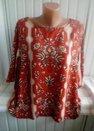 Вискозная блуза большого размера батал