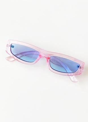Новые солнцезащитные очки розовые прозрачные c голубыми стеклами asos