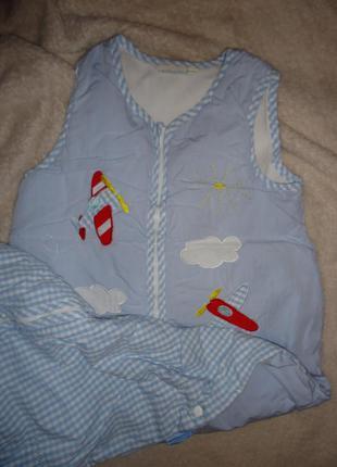 Конверт - спальный мешок фирмы jojo maman bebe на синтепоне р. 18 мес-4 года