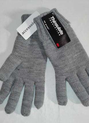Отличные перчатки на утеплителе последнего поколения, тинсулейте. c&a