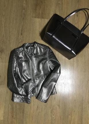 Набор дзеркальная куртка и сумка