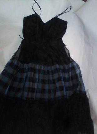 Оригинальное платье сарафан vera mont германия размер 38