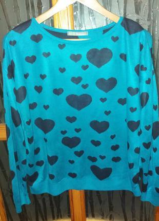 Пуловер размер 8 свободный