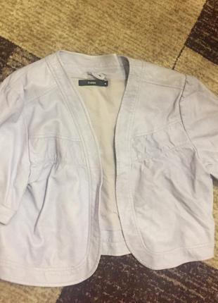 💘стильная фирменная лиловая курточка из кожи💄