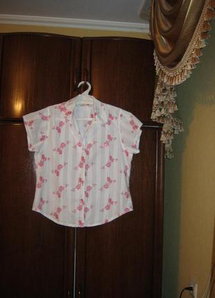 Пижама marks&spencer орхидея , 100% хлопок, размер 12