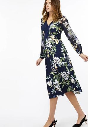 Шикарное платье миди в цветочный принт  monsoon , оригинал