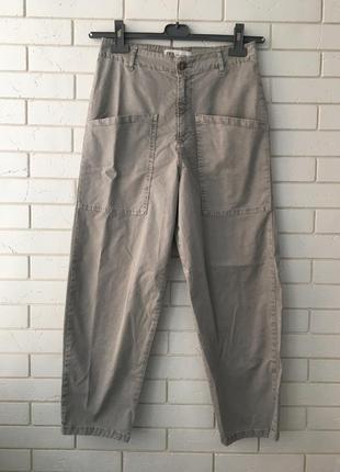 Замечательные серые джинсы бананы zara