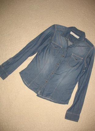 Рубашка джинсовая тонкая next denim