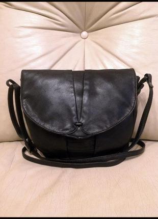 Стильная кожаная сумка кросс боди на/через плечо - 100% натуральная кожа