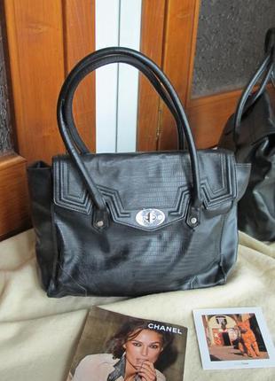 Большая вместительная черная сумка