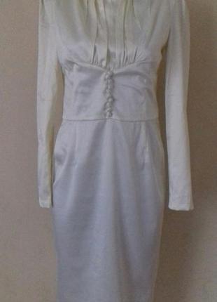 Новое нежное кремовое платье