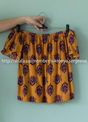 Актуальная легкая блуза на плечи, с открытыми плечами