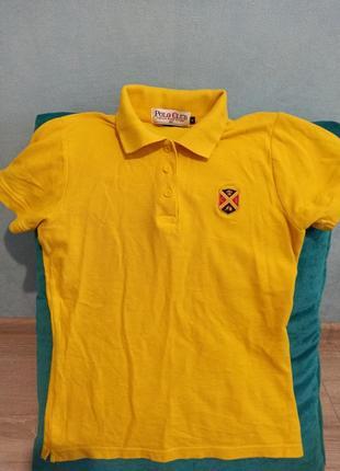 Футболка поло. желтая