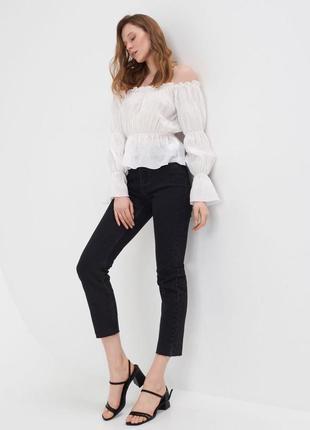Модные джинсы boyfriend , черного цвета, размер 36🖤